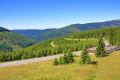 Reuzebergen (Tsjech: Krkonose), Riesengebirge, Tsjech, Polannd Stock Fotografie