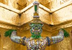 Reuzeboedha in Groot Paleis, Thailand Stock Foto
