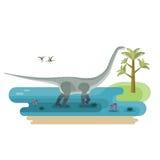 Reuzediplodocus Royalty-vrije Stock Foto's