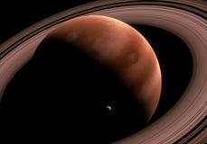 Reuzegasplaneet met ringen Royalty-vrije Stock Afbeelding
