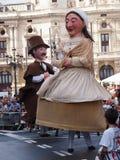 Reuzen en grote hoofden in Bilbao royalty-vrije stock foto's