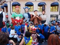 Reuzen en grote hoofden in Bilbao Stock Foto's