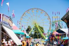 Reuzenrad bij de markt van de provincie van Washington royalty-vrije stock foto's