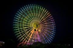 Reuzenrad bij nacht stock foto's
