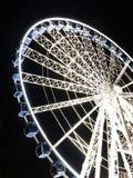 Reuzenrad bij nacht in Gdansk, Polen Royalty-vrije Stock Afbeelding