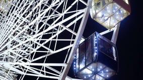 Reuzenrad donkere nacht stock videobeelden