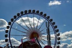 Reuzenrad in Oktoberfest München Beieren royalty-vrije stock fotografie