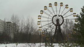 Reuzenrad in Pripyat stock footage