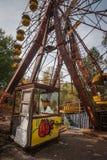 Reuzenrad in verlaten Pripyat-stad, de streek van Tchernobyl, Stock Afbeelding