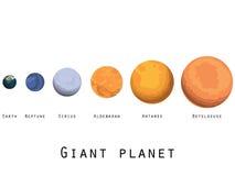 Reuzeplaneet Planeten en sterren van het heelal Belangrijke planeten royalty-vrije illustratie