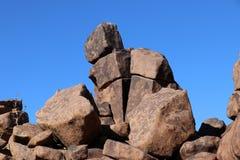 Reuzespeelplaats - een bizar rotslandschap in Keetmanshoop - Namibië stock foto's