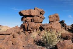 Reuzespeelplaats - een bizar rotslandschap in Keetmanshoop - Namibië royalty-vrije stock foto's