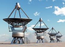 Reuzetelescopen royalty-vrije illustratie