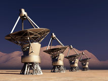 Reuzetelescopen vector illustratie