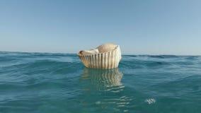 Reuzetun shell rotating stock videobeelden