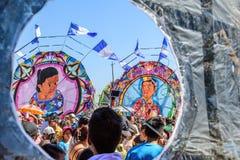 Reuzevliegerfestival, de Dag van Alle Heiligen, Guatemala Stock Afbeeldingen