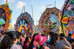Reuzevliegerfestival, de Dag van Alle Heiligen, Guatemala Stock Fotografie