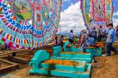 Reuzevliegers & graven, de Dag van Alle Heiligen, Guatemala Stock Afbeeldingen