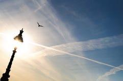 Revérbero e céu Foto de Stock