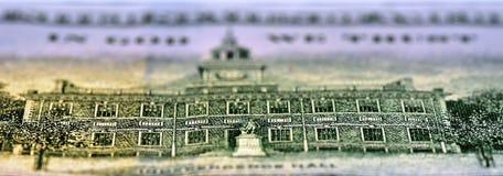 Revés de la nota de 100 USD Imágenes de archivo libres de regalías