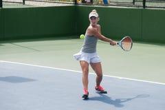 Revés del tenis del poder Fotos de archivo