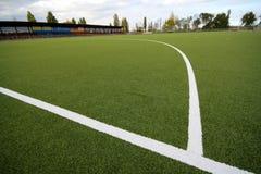 Revêtement artificiel pour le jeu dans l'hockey de zone Images libres de droits