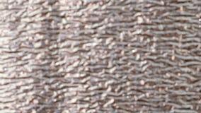 Revêtement brillant argenté de mur, matériel d'isolation thermique blur banque de vidéos