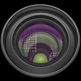 Revêtement d'antiréflexion multicolore d'éclat de lentille Photographie stock libre de droits