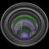 Revêtement d'antiréflexion multicolore d'éclat de lentille Photo libre de droits