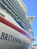 Revêtement de croisière de P&O Britannia dans StKitts photo libre de droits