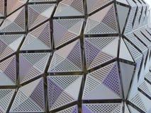Revêtement en métal sur le bâtiment images libres de droits