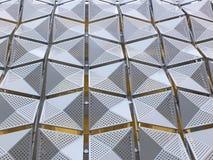 Revêtement en métal sur le bâtiment image stock
