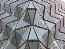 Revêtement en métal sur le bâtiment photos libres de droits