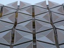 Revêtement en métal sur le bâtiment photographie stock