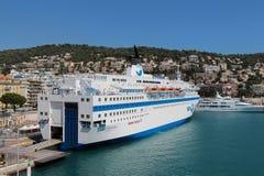 Revêtement en Port de Nice Photographie stock