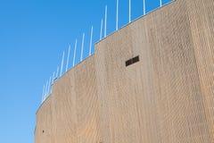 Revêtement extérieur de bois de construction de Helsinki le Stade Olympique photo libre de droits