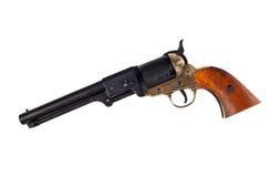 Revólver americano antigo da percussão da marinha do potro fotografia de stock