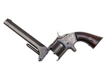 Revólver antigo do período da guerra civil no branco Fotografia de Stock