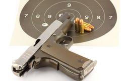 revólver de 9 milímetros Fotografia de Stock Royalty Free
