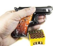 Revólver pequeno 6 35 milímetros Fotografia de Stock