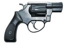 Revólver preto moderno da arma de fogo imagens de stock
