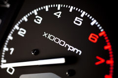 Rev counter tachometer Royalty Free Stock Photos