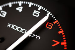 Rev counter tachometer Royalty Free Stock Images