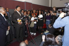 Rev. Jesse Jackson at press conference Stock Photos