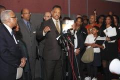 Rev. Jesse Jackson at press conference Stock Image