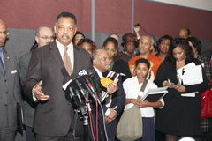 Rev. Jesse Jackson at press conference Stock Photography