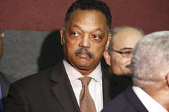 Rev. Jesse Jackson at press conference Royalty Free Stock Image