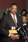 Rev. Jesse Jackson at press conference Royalty Free Stock Images