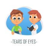 Reva av ögonläkarundersökningbegreppet också vektor för coreldrawillustration Royaltyfria Foton