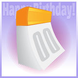 Reva-avkalender för lycklig födelsedag Royaltyfri Foto